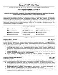 Manufacturing Engineer Sample Resume Mechanicaloduction Format