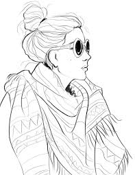 Fashion Design Coloring Page Free Download