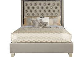 Cadence Gray 3 Pc Queen Bed Upholstered Contemporary