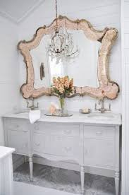vintage style frame wall mirror white