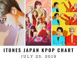 Itunes Japan Itunes Kpop Chart July 25th 2019 2019 07 25
