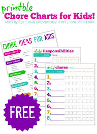 Reward Chart Ideas For 8 Year Old Free Printable Chore Charts For Kids Free Responsibility
