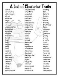 ideas about list of character traits on pinterest  this is a list of  different character traits my kiddos love using quotsimple