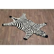zebra skin rug animal vintage large taxidermy with felt backing century for real uk rugs