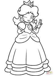Small Picture Coloring Pages Of Daisy From Mario Kart Printable Coloring Sheets