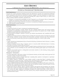 Supervisor Resume Sample Resume Sample Clinical Counselor Supervisor Resume Example Career 44