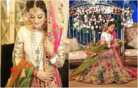 Erum Khan Dress Designer Aiman Is Wearing Erum Khan Couture On Her Mehndi Ceremony I