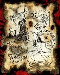 witch of kadath necronomicon page occult demon magick dark spirit vire horror más