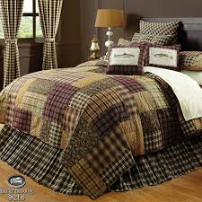 quilt comforter sets king brown log cabin fish lodge twin queen cal bedding set 9