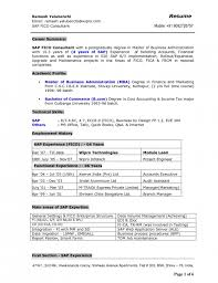 Sample Sap Resume Fulddyndnsberlin Sap End User Resume ...