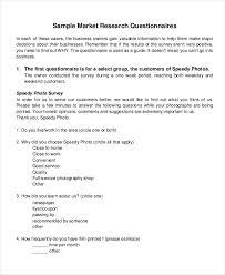 Sample Surveys Questionnaires 7 Marketing Research Questionnaire Examples Samples Examples