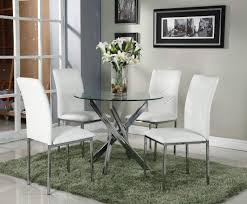 dining room round white gloss table oak chairs uk intended for glass and chrome dining table and chairs