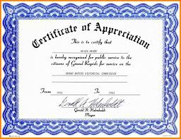 Sample Of Appreciation Certificates Free Sample Certificate Appreciation Certificate Of