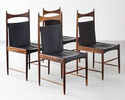 sergio rodrigues set of four cantu chairs