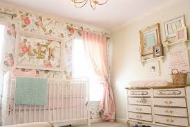 floral pint wall for a shabby chic nursery