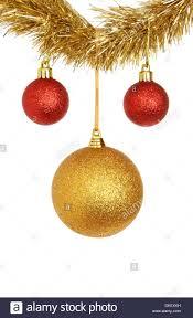 Rot Und Gold Christbaumkugel Christbaumschmuck Hängen Von