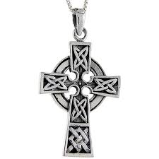 springtime new style sterling silver celtic cross pendant 1 5 8 inch tall 45372