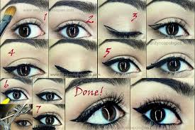 how to do easy cat eyeliner with liquid liner photo tutorial