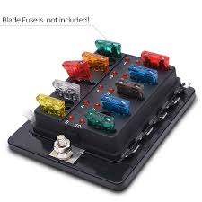 32v 100a 10 way blade fuse block holder terminals circuit auto car 32v 100a 10 way blade fuse block holder terminals circuit auto car fuse box w