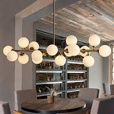Fandian <b>Post</b>-<b>Modern</b> Chandelier 16 Round Glasses <b>LED Ceiling</b> ...