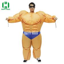 Adult Halloween Lovely Fitness Instructor Inflatable Muscle Man Costume  Funny Giant Carnival Party Dress Final Fantasy Cosplay