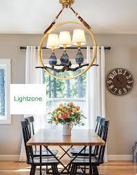 Großhandel American Vintage Kupfer Led Pendelleuchten Stoff Lampenschirm Esszimmer Keramik Anhänger Beleuchtung Retro Anhänger Kronleuchter Leuchten