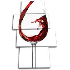 on wine canvas wall art uk with wine glass food kitchen multi canvas wall art picture print va ebay