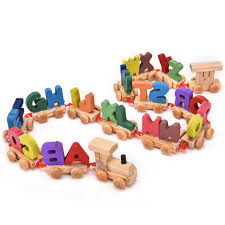 wooden train set alphabet wood letters w wheels kids toddler educational toy d