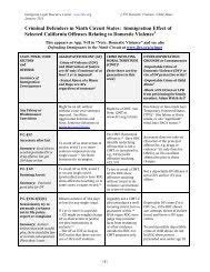 Quick Reference Chart And Notes For Determining Immigration