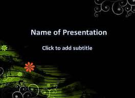 A Dark Background With Flowers Template For Presentation