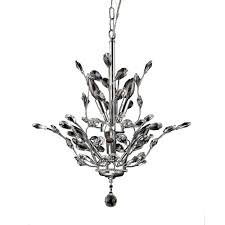 leah 8 light chrome indoor leaf like crystal chandelier with shade