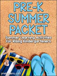 Support your kids learning journey with games, worksheets and more that help children practice key skills. Pre K Summer Packet Prekinders