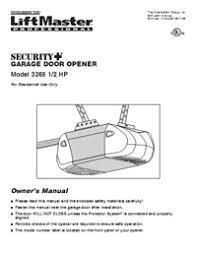 liftmaster garage door opener troubleshootingGarage door opener manual  TigerForce  Brands opener