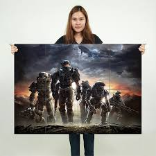 halo reach block giant wall art poster