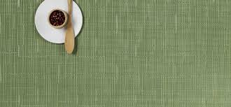 chilewich  green placemats rectangle  table top linens