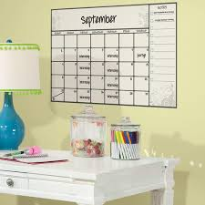 scroll dry erase calendar l and stick wall