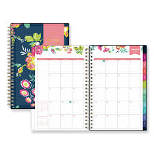 planners weekly monthly day designer cyo weekly monthly planner 8 x 5 navy floral 2020