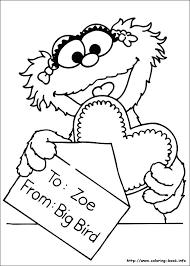 Sesame Street Birthday Coloring Page Birthday Happy Sesame Street