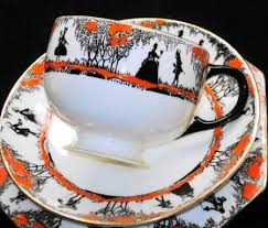 vintage tea cup silhouette. Wonderful Cup Star Paragon Couple Silhouette Tea Cup And Saucer Teacup Plate  EBay Throughout Vintage E