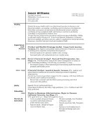 Good Resume Format Simple Example Of A Good Resume Format The Best Resume Formats Sample Of