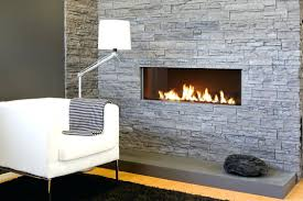 ventless gas fireplace insert installation design with logs smell and white table lamp also floor