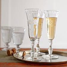 unique champagne flutes. Vintage Etched Champagne Flutes Unique