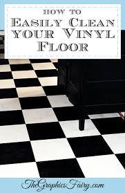 how to clean vinyl floors easily