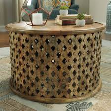 round woven coffee table reclaimed wood rattan small driftwood acrylic awesome wicker furniture end leather ottoman