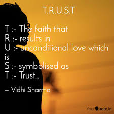 Quotes On Faith Delectable TRUST Quotes Writings By Vidhiii Sharma YourQuote