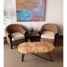 chic teak furniture. Teak Oval Coffee Table - Chic Furniture G