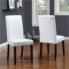 amazing white leather dining room chair extraordinary faux leather parsons parsons dining room chairs decor
