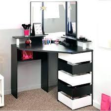 black makeup desk vanity with mirror table drawers canada vanities lighted vani