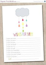 Wishes For Baby Template Baby Shower Wish List For Guest Wording Registry Surprising Gift