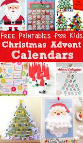 13 Free Printable Christmas Advent Calendars for Kids: Easy to make  homemade advent calendars (